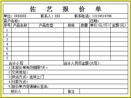 佐艺办公软件培训班学员Excel表格作品4图片展示